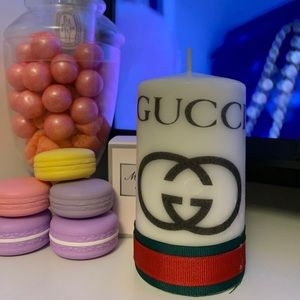 Gucci logo candle